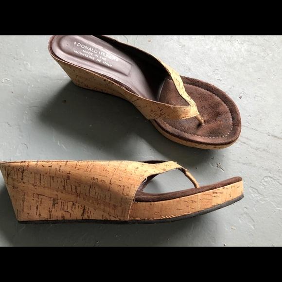 26b3b2644b4d47 Donald J Pliner cork wedge sandals